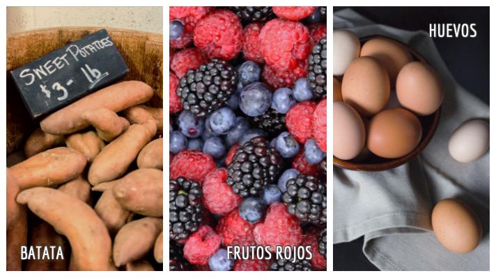 Superalimentos: batata, frutos rojos, huevos
